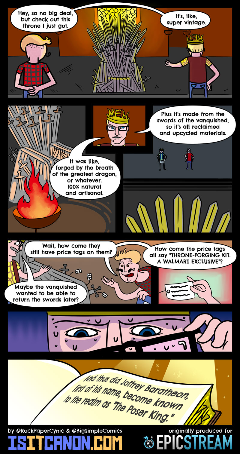 In this comic we try to imagine the only way Prince Joffrey could be even MORE annoying in Game of Thrones!