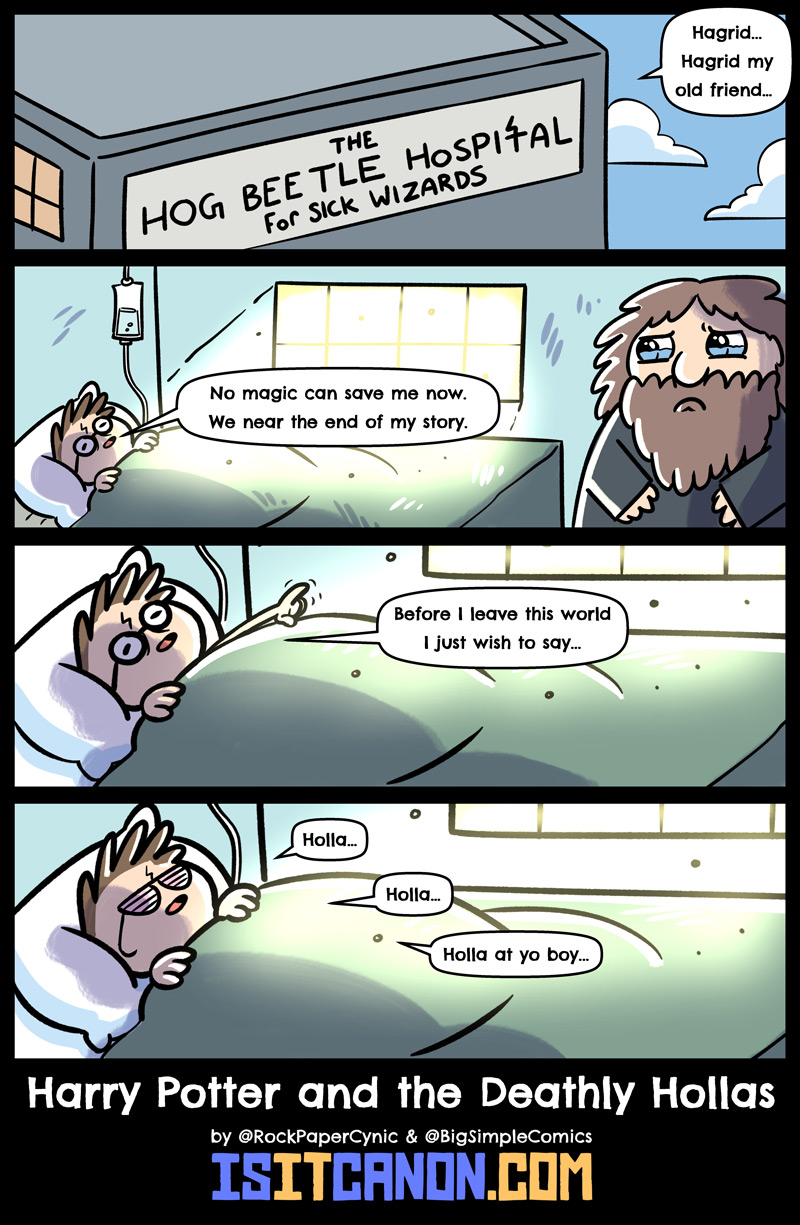 In this comic, a wizard faces his final adventure on his deathbed.